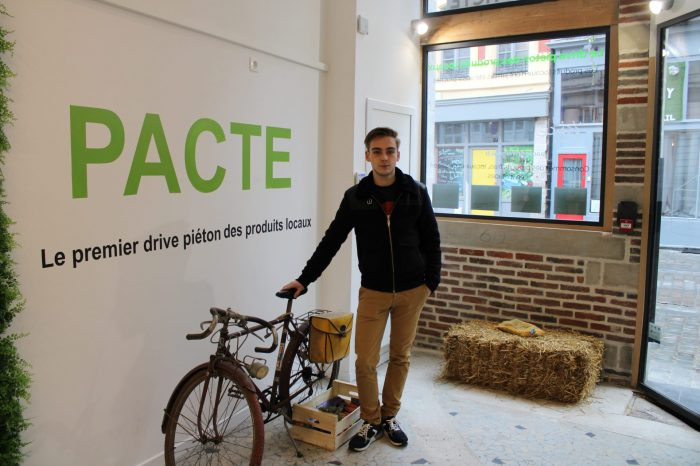 Grégoire, jeune entrepreneur dans la vente de produits locaux